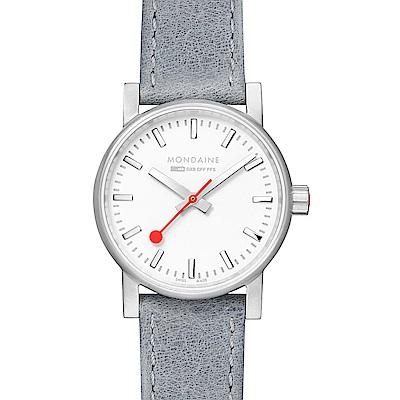 MONDAINE 瑞士國鐵evo2時光走廊腕錶-銀灰/30mm
