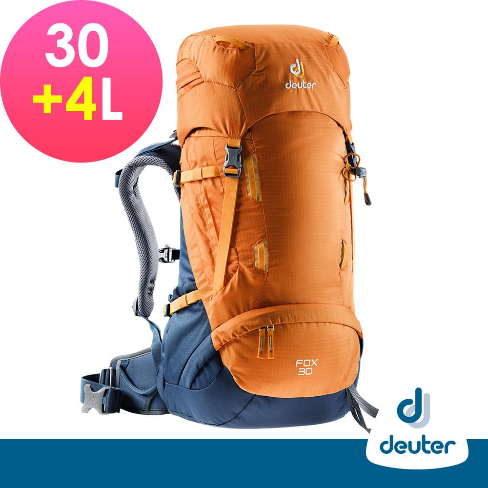 【德國DEUTER】FOX拔熱休閒旅遊透氣背包30+4L(3613018芒果黃/暗藍)