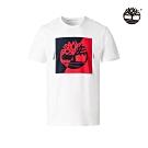 Timberland 男款純淨白短袖圓領T恤|A2B6A