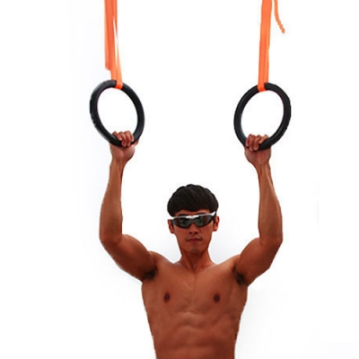 體操吊環運動健身引體向上+束帶套組.ABS高韌度懸吊訓練倒掛肌肉筋膜伸展拉環健身器材