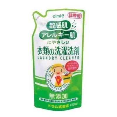 日本品牌【愛兒美Elmie】低刺激溫和洗衣精 補充包