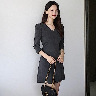 【AIRKOREA正韓空運】修身顯瘦連衣裙