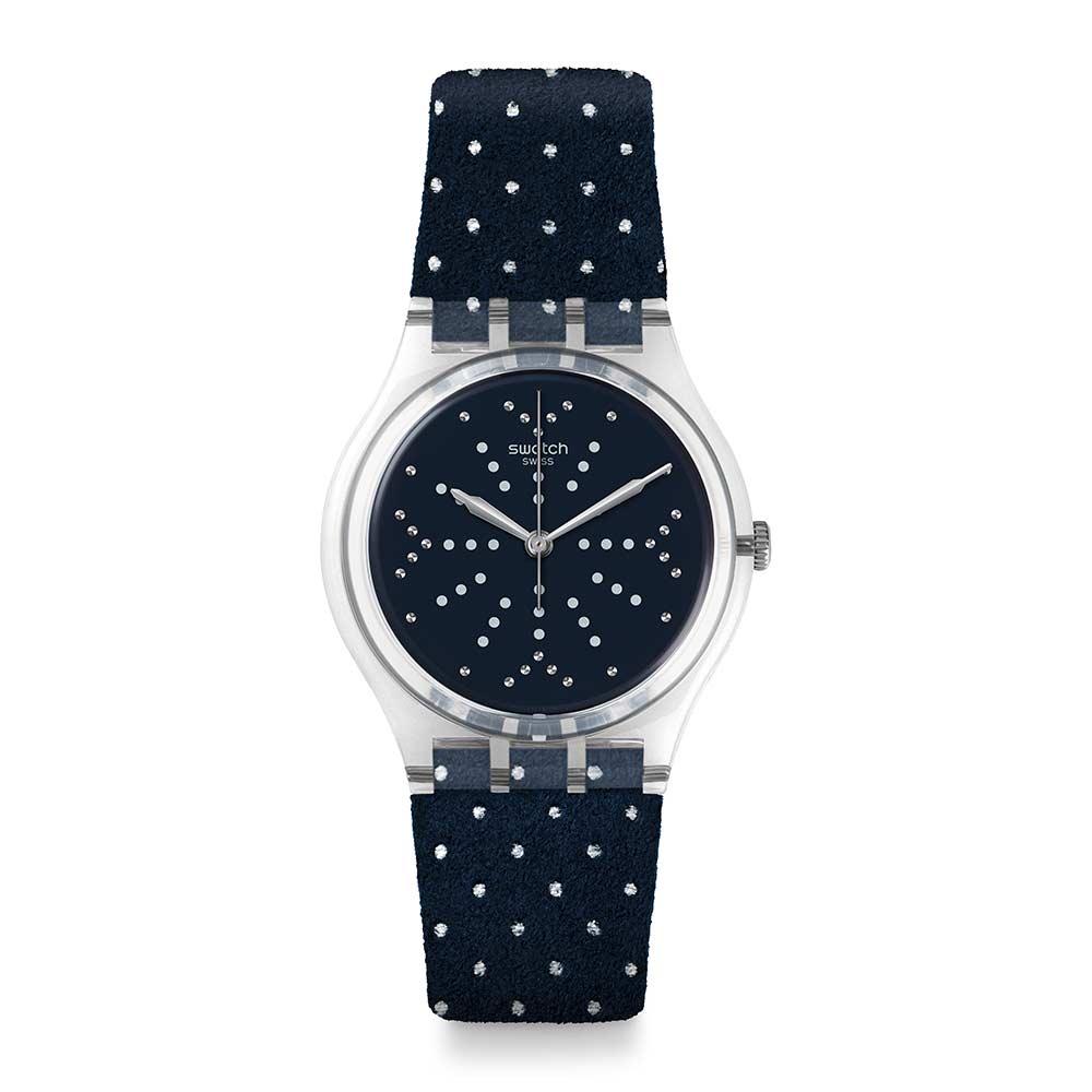 Swatch Deep Wonder系列 FLOCON 雪花點點手錶