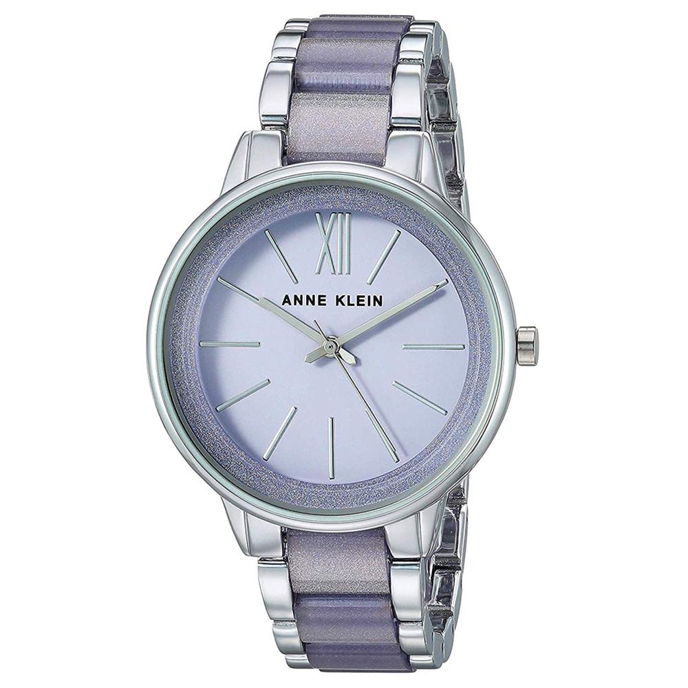 Anne Klein 紫羅蘭女神級氣質腕錶-灰x37mm AK-1413LGSV