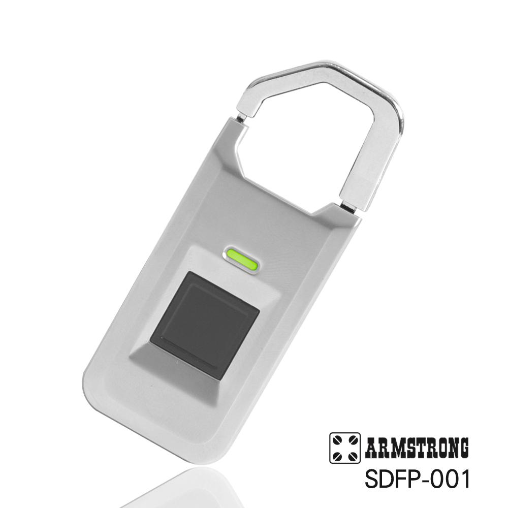 ARMSTRONG 指紋隨身行李掛鎖SDFP-001-時尚銀