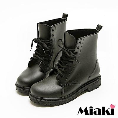 Miaki-雨靴韓風暢銷8孔馬汀靴短靴
