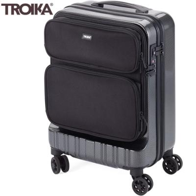 德國TROIKA商務出差36 HOURS TROLLEY隨身手提18.5吋行李箱LUG02/CB(TSA密碼鎖;抗震聚碳酸酯;雙排雙輪飛機輪)登機箱旅行箱