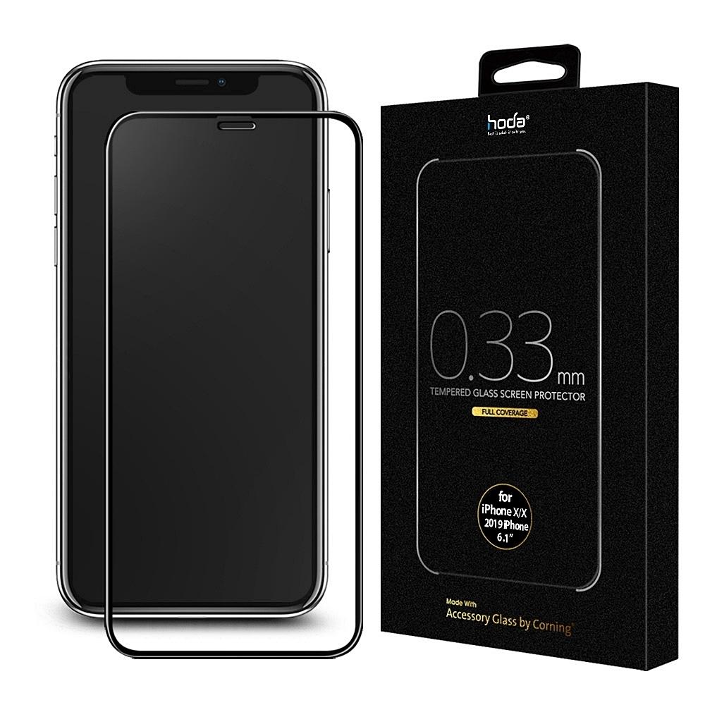 hoda iPhone11/XR 美國康寧授權 2.5D隱形滿版玻璃保護貼AGBC