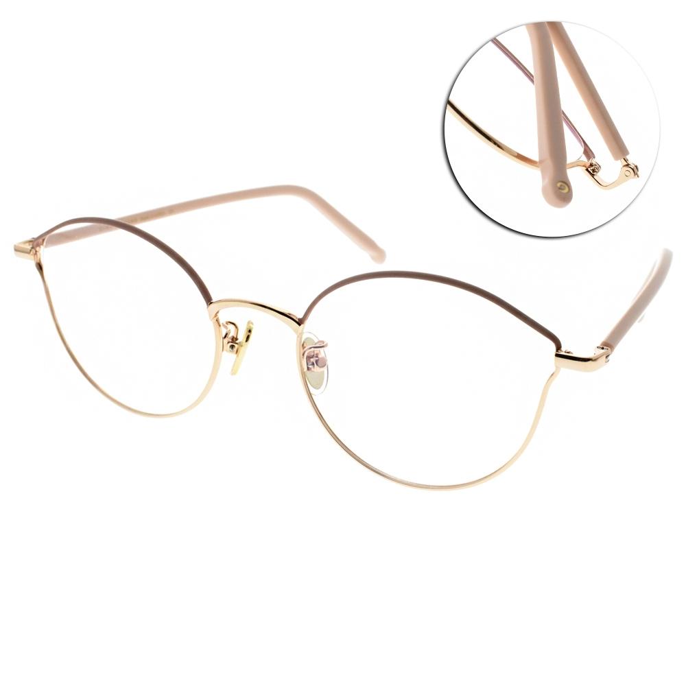 NINE ACCORD光學眼鏡  韓系多邊造型款/粉金-粉#PLACO-ISIS1 C2