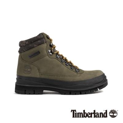 Timberland 男款深綠迷彩磨砂革登山鞋|A1YUD