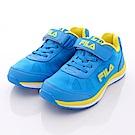 FILA頂級童鞋款 雙密度夜光款 EI02P-399藍黃(大童段)0