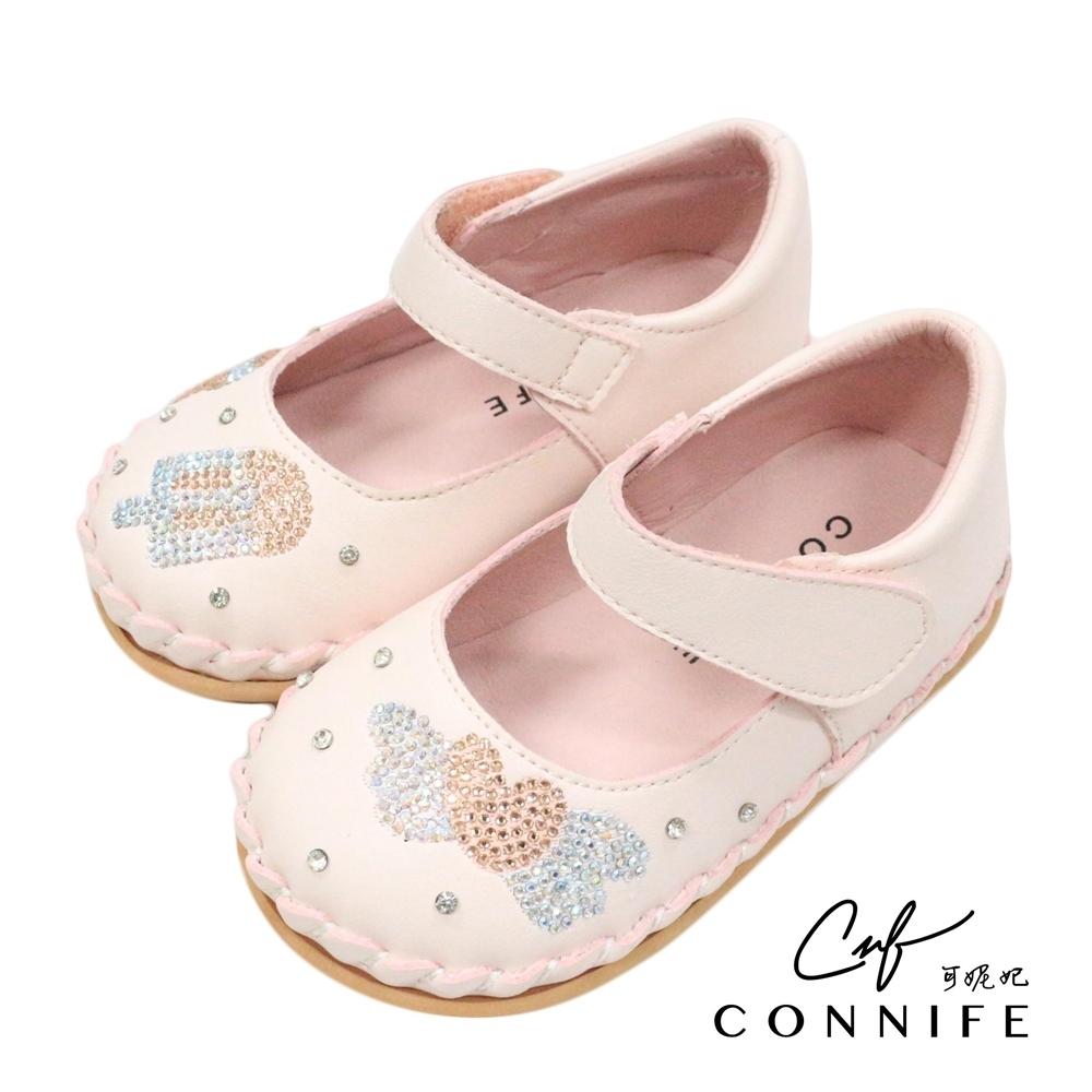 CONNIFE可妮妃*甜夢精緻寶寶縫線鞋-型號2659-粉
