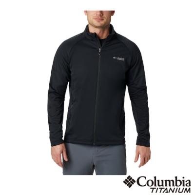 Columbia 哥倫比亞 男款- 鈦 防潑防風快排軟殼外套-黑色
