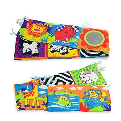 JoyNa-嬰兒床床圍雙面彩色動物世界布書