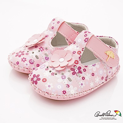 雨傘牌 專櫃軟質小碎花娃娃鞋款 EI73228粉(小童段)