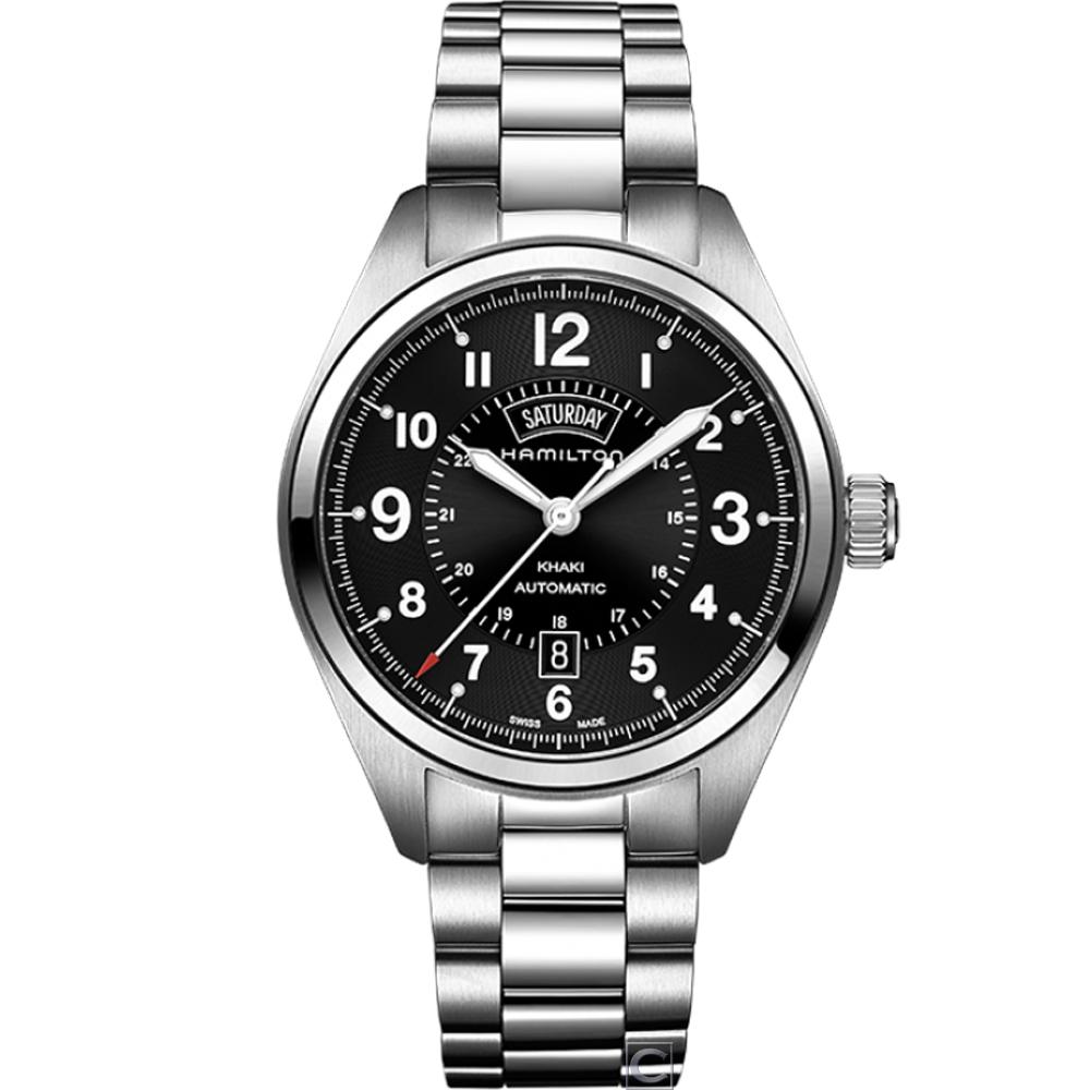 (無卡分期12期)Hamilton卡其陸戰 DAY DATE機械腕錶(H70505133)