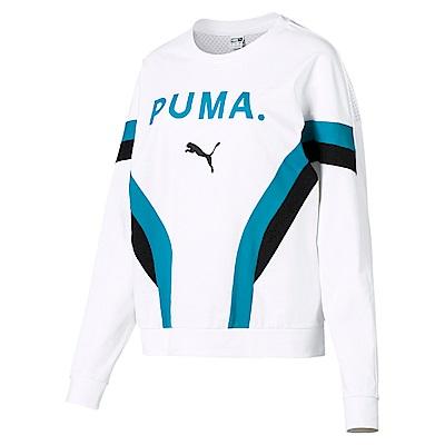 PUMA-女性流行系列Chase網布圓領衫-白色-歐規