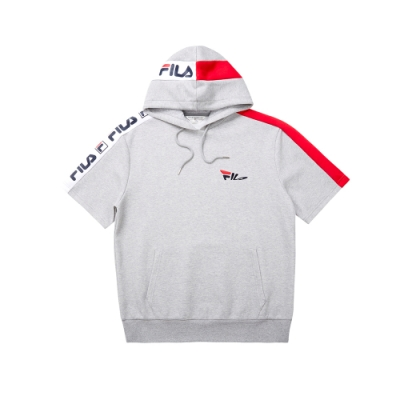 FILA 短袖連帽T恤-麻灰 1TET-5438-MY