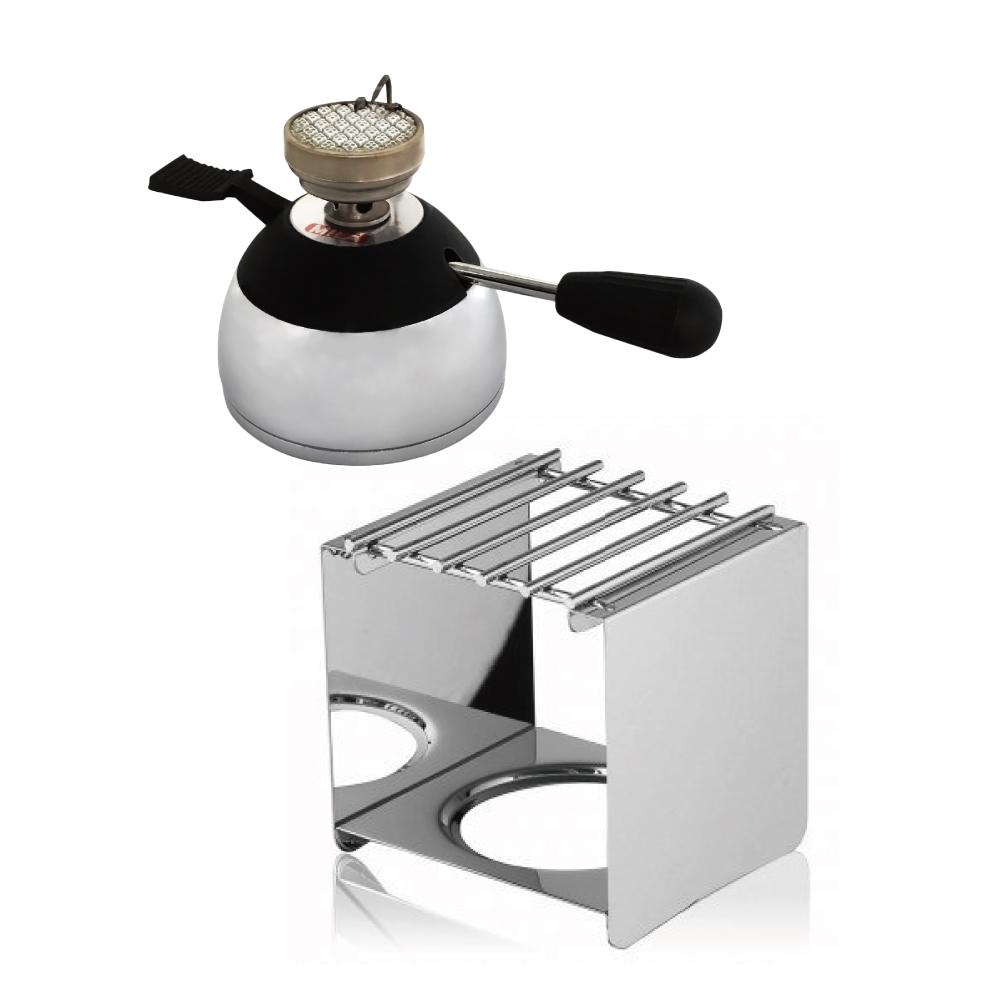 Mila 陶瓷登山爐+爐架組(摩卡壺虹吸壺煮咖啡加熱/野外露營/室內戶外皆適用)