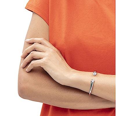 CALVIN KLEIN Brilliant 系列閃耀香檳金晶鑽手環-M