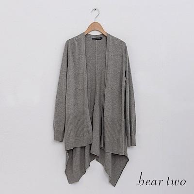 beartwo 經典百搭針織罩衫外套(二色)
