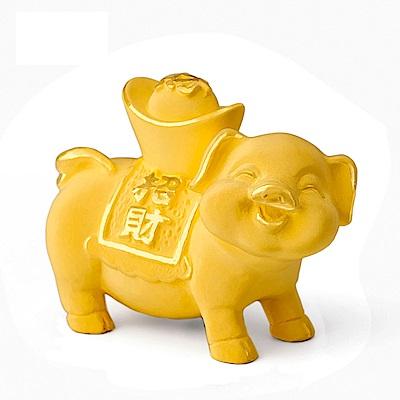MANSTYLE 招財進寶豬 黃金擺件 (約3錢)