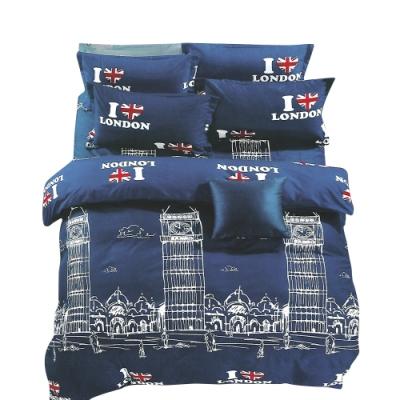 A-one 雪紡絲 單人床包/枕套 二件組 大笨鐘