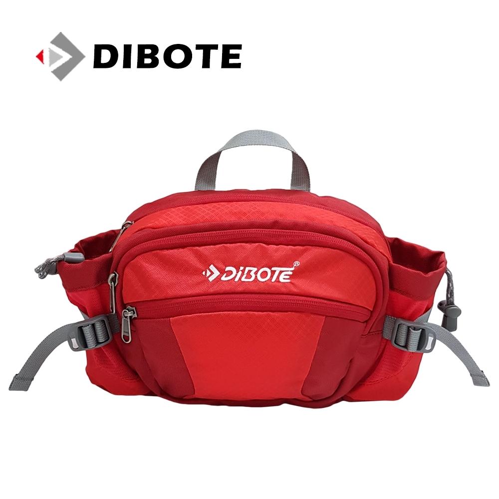 迪伯特DIBOTE 多功能戶外休閒透氣腰包/背包 (紅) -快速到貨