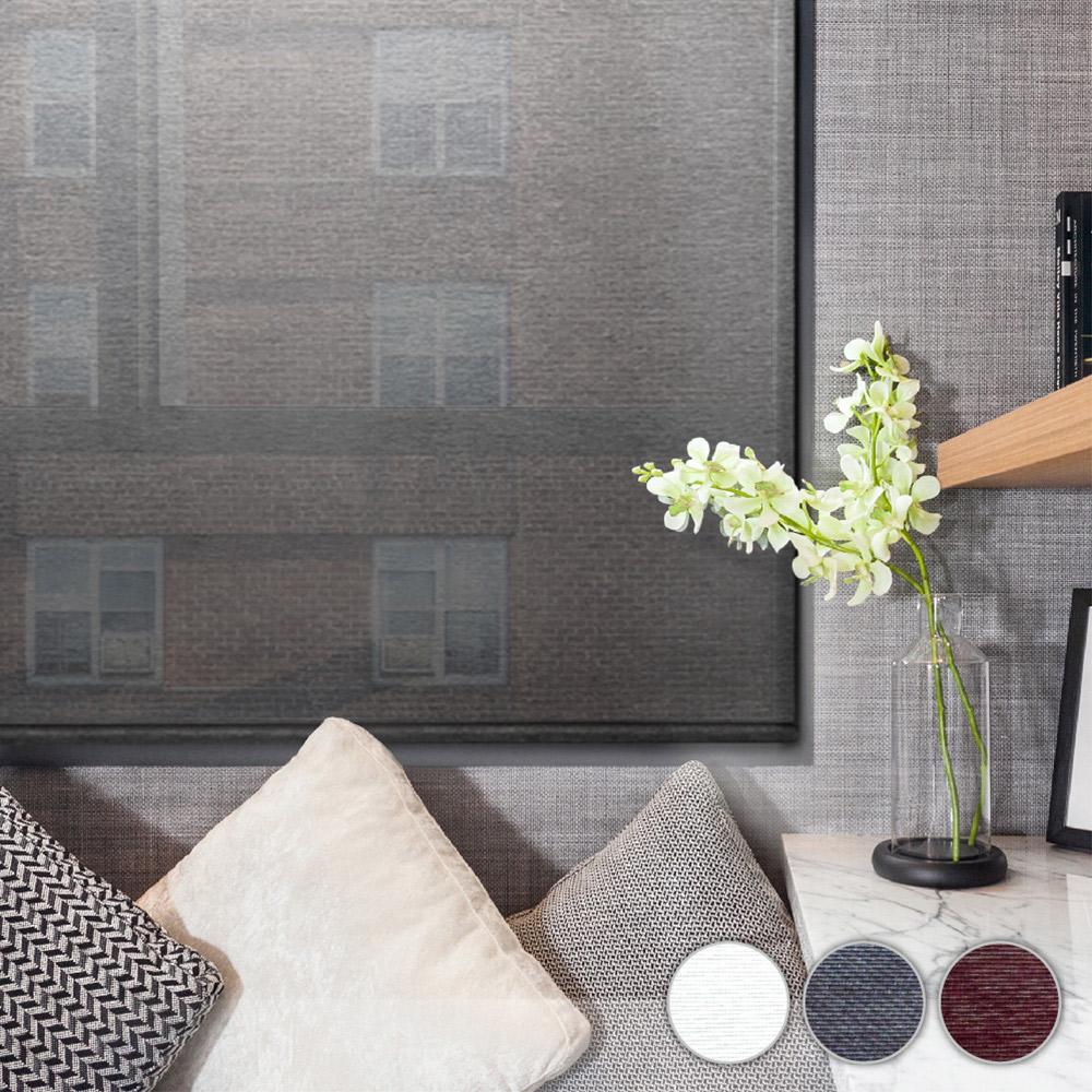 加點 120x185cm DIY搖控電動 科技網布系列遮光 捲簾 窗簾