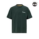 Timberland 男款森杉綠經典徽標圓領T恤|A28NC