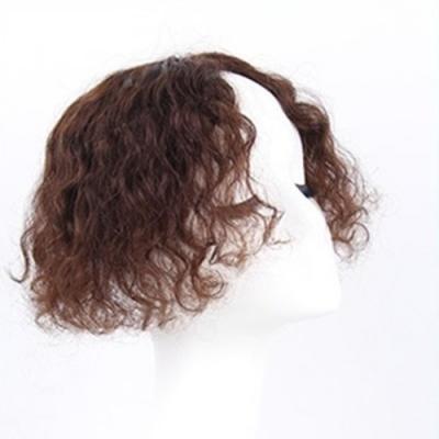 米蘭精品 假髮片真髮絲-25cm捲髮補髮塊透氣女假髮母親節禮物2色73us16