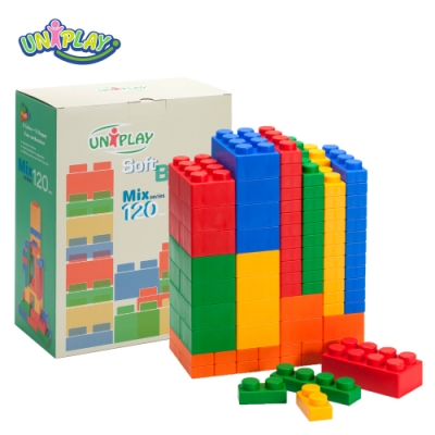 UNIPLAY抗菌軟積木 MIX款 120入