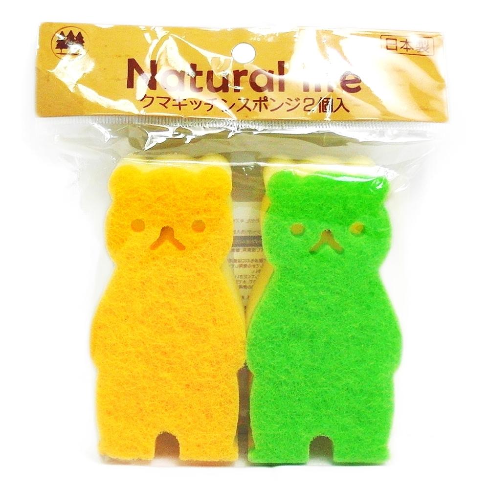 日本進口熊寶寶廚房海綿-2入x3組