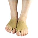 Aqnui 拇指外側腳掌型保護套4個(膚色)