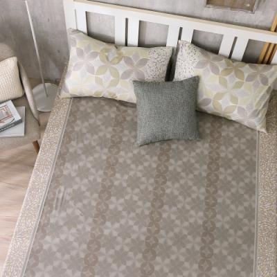 鴻宇 100%精梳棉 朱利安 咖 雙人加大床包枕套三件組