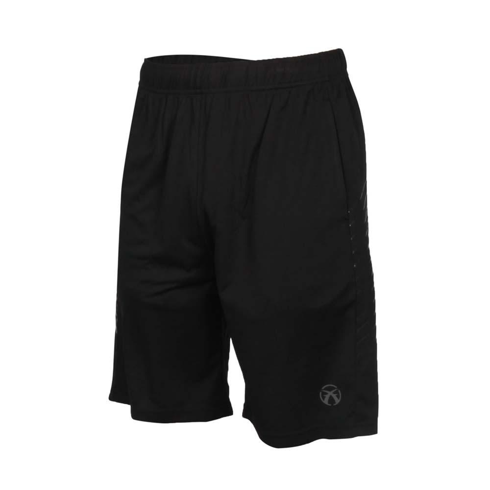 FIRESTAR 男吸排訓練籃球褲-慢跑 運動短褲 五分褲 寬版 針織 B0506-10 黑灰