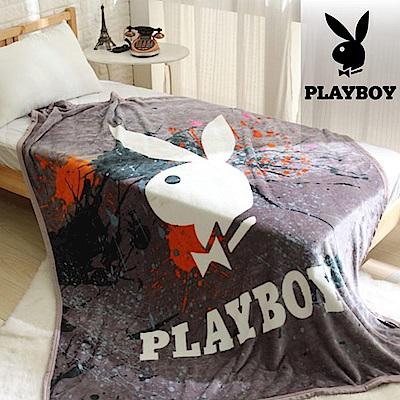 UP101 PLAYBOY法蘭絨毯-塗鴉風(EO-013)