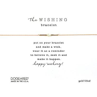 Dogeared Wishing 閃亮星辰豆豆手鍊 幸運珍珠手鍊 金色X裸色 附原廠盒