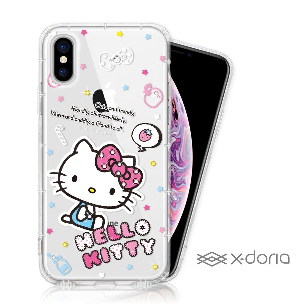 Hello Kitty iPhone Xs Max 彩繪水鑽手機空壓殼 - 塗鴉