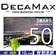 DECAMAX 50型4K HDR智慧聯網液晶顯示器+視訊盒(DM-504K-SMART) product thumbnail 1