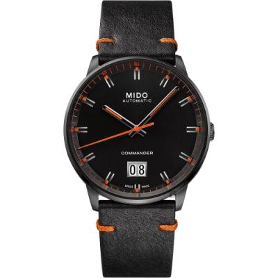 MIDO美度 Commander 香榭大日期機械錶-黑/42mm