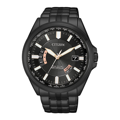 CITIZEN 光動能時光續航電波計時腕錶-黑(CB0185-84E)-42mm