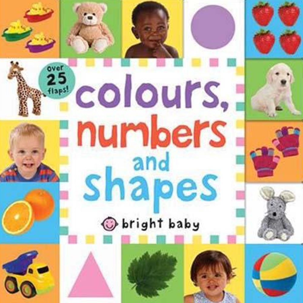 Colours,Numbers And Shapes 硬頁翻翻操作書(英國版)