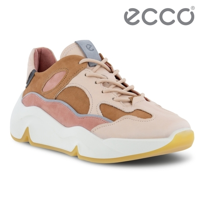 ECCO CHUNKY SNEAKER W 潮趣多色輕量透氣休閒運動鞋 女鞋 彩色/太妃棕