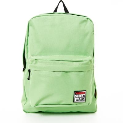 VISION STREET WEAR 潮牌時尚運動休閒雙肩後背包 蘋果綠 VB2032LG