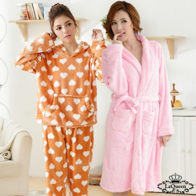 [時時樂限定]LaQueen  暖冬睡袍限時限定2套組