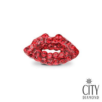 City Diamond引雅【東京Yuki系列】日系紅唇領帶/別針/徽章
