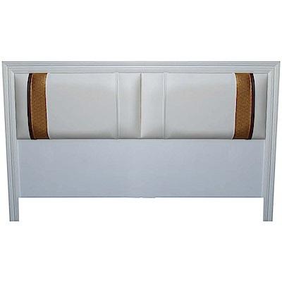綠活居 波利5尺皮革雙人床頭片(三色可選)-154x5.2x93cm免組