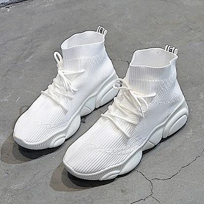 韓國KW美鞋館 女人話題學院風休閒鞋-白色