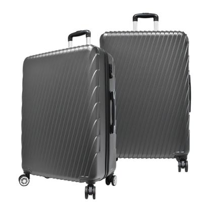 RAIN DEER 24吋羅馬妮雅ABS拉鍊行李箱-鐵灰色